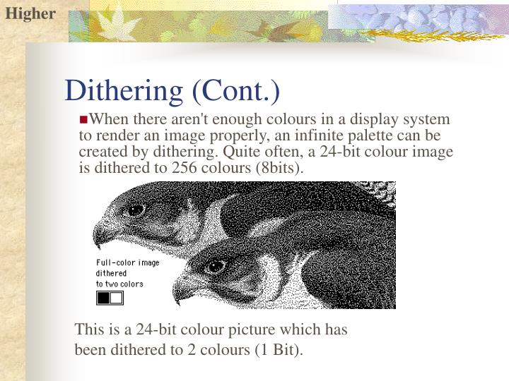 Dithering (Cont.)
