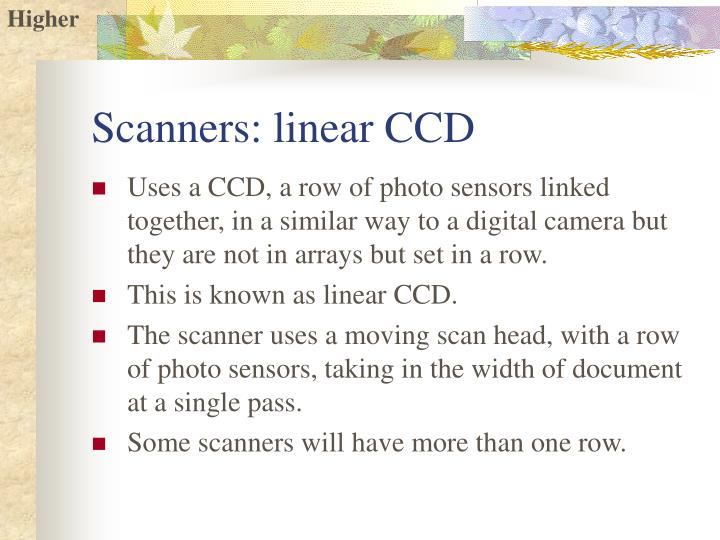 Scanners linear ccd