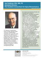 jay goldman dsc ms pe assistant director the southern consortium for injury biomechanics