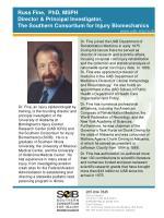 russ fine phd msph director principal investigator the southern consortium for injury biomechanics