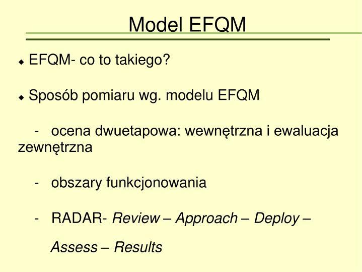 EFQM- co to takiego?