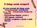 il dialogo sociale europeo 2