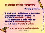 il dialogo sociale europeo 5