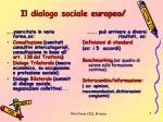 il dialogo sociale europeo