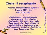 italia il recepimento