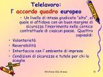 telelavoro l accordo quadro europeo1