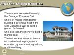 after the taiping rebellion