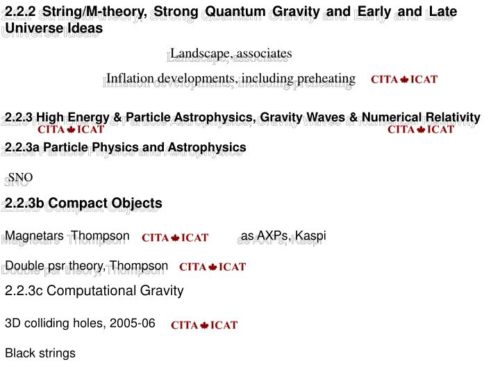 2.2.2 String/M-theory, Strong Quantum Gravity