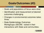 goals outcomes 3