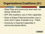 organizations coalitions 1