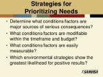 strategies for prioritizing needs
