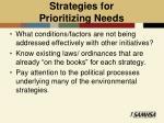 strategies for prioritizing needs1