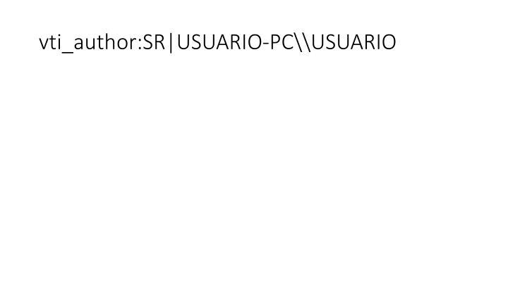 Vti author sr usuario pc usuario
