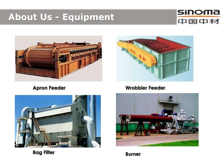 About Us - Equipment