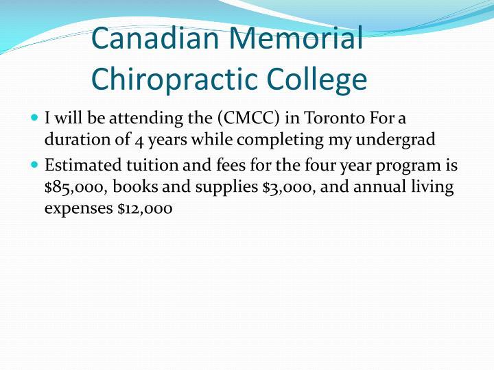 Canadian Memorial Chiropractic College