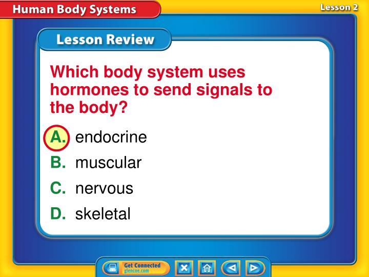 Which body system uses hormones to send signals to