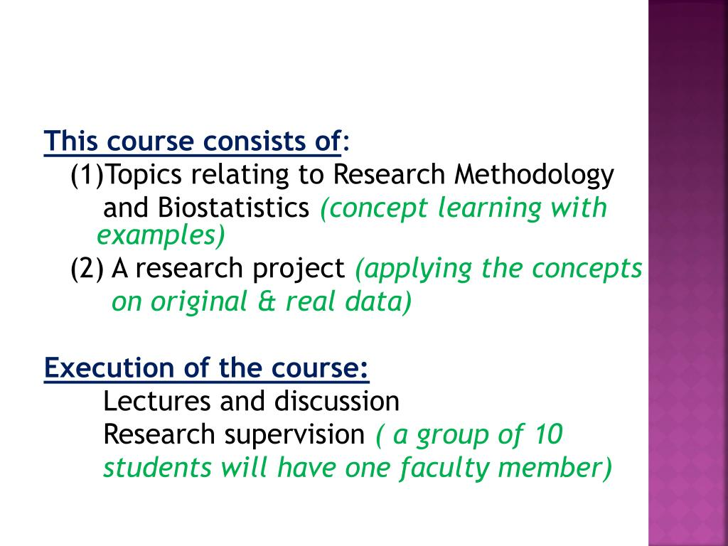 PPT - CMED-304 Research Methodology and Biostatistics