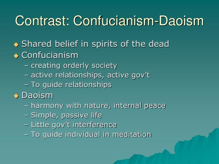 Contrast: Confucianism-Daoism