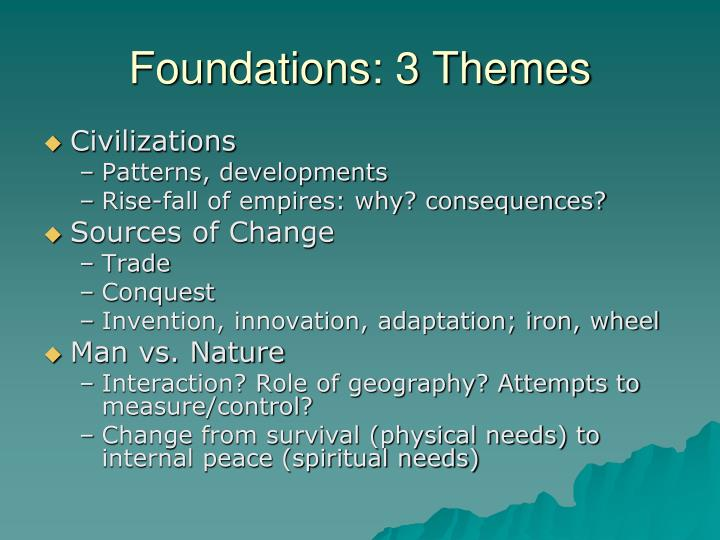 Foundations: 3 Themes