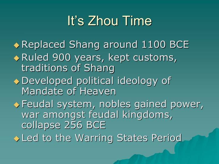 It's Zhou Time