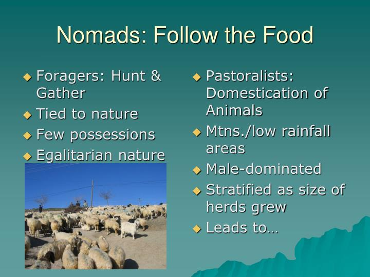 Nomads follow the food