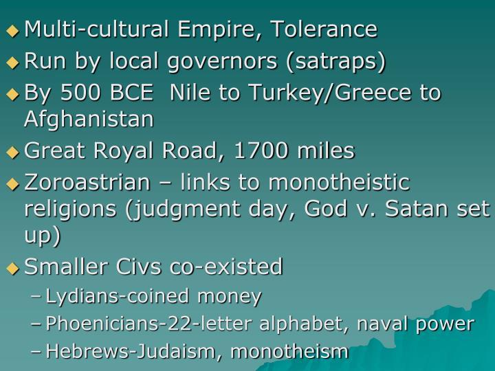 Multi-cultural Empire, Tolerance