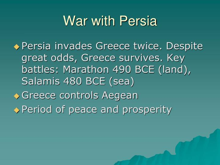 War with Persia