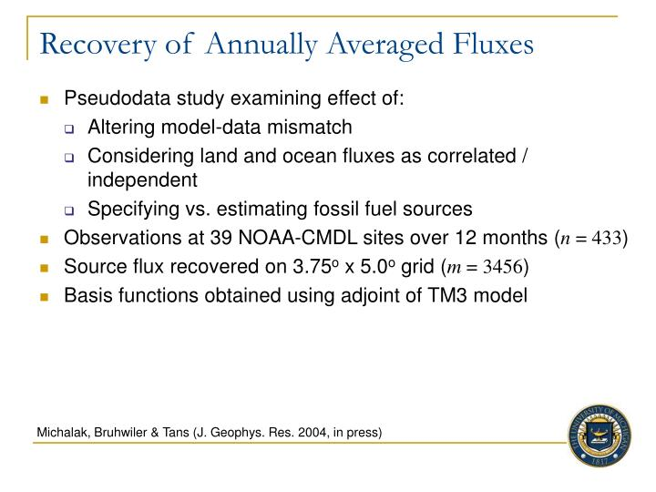Recovery of Annually Averaged Fluxes