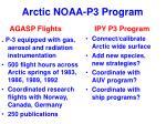 arctic noaa p3 program