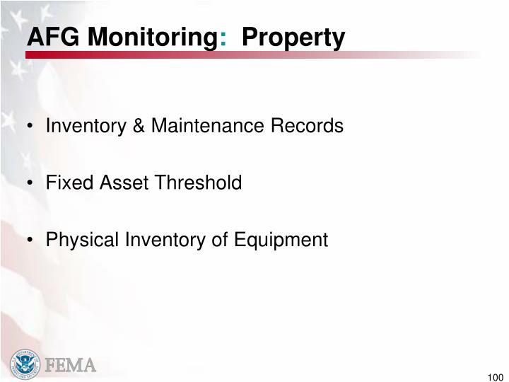 AFG Monitoring