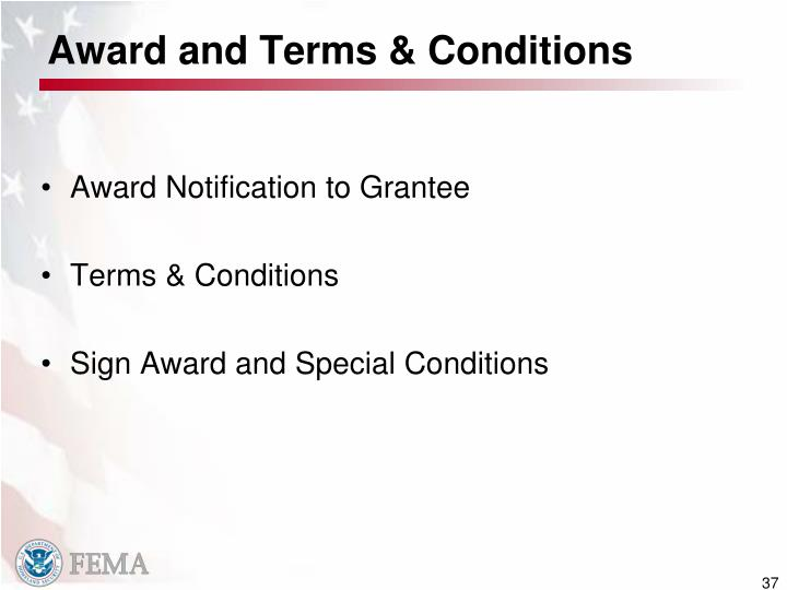 Award and Terms & Conditions
