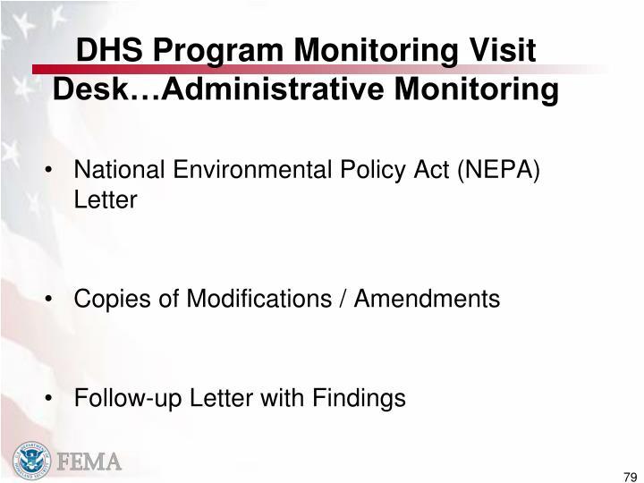 DHS Program Monitoring Visit