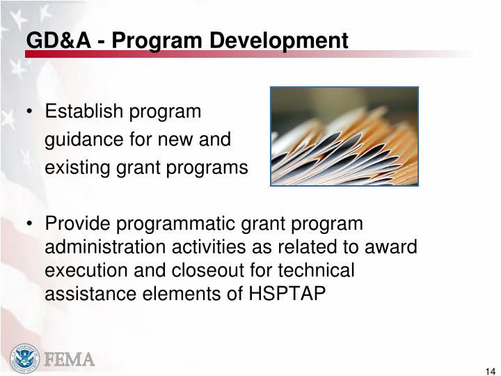 GD&A - Program Development