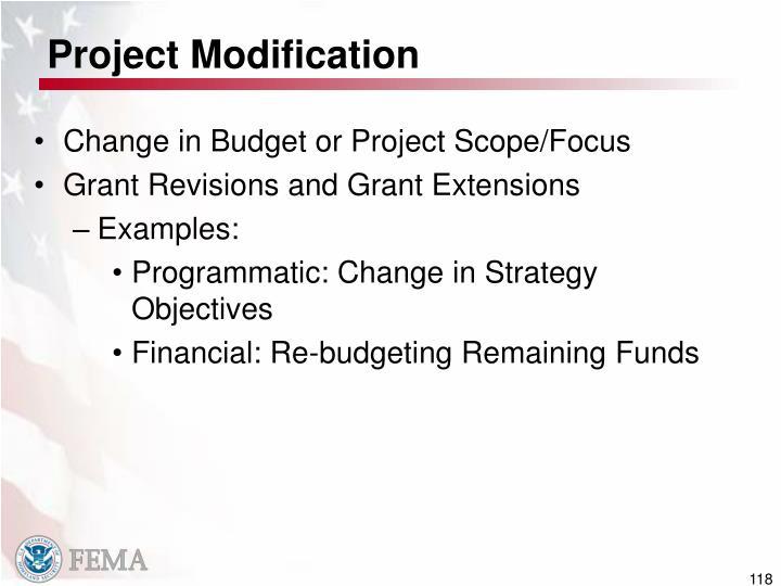 Project Modification