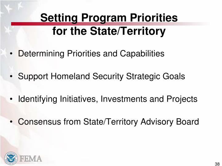 Setting Program Priorities