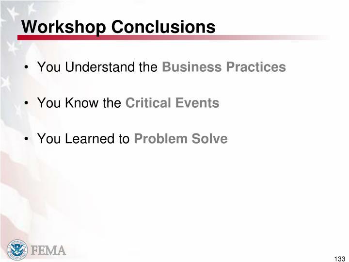 Workshop Conclusions