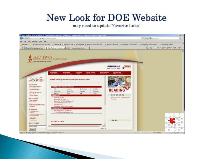 New Look for DOE Website