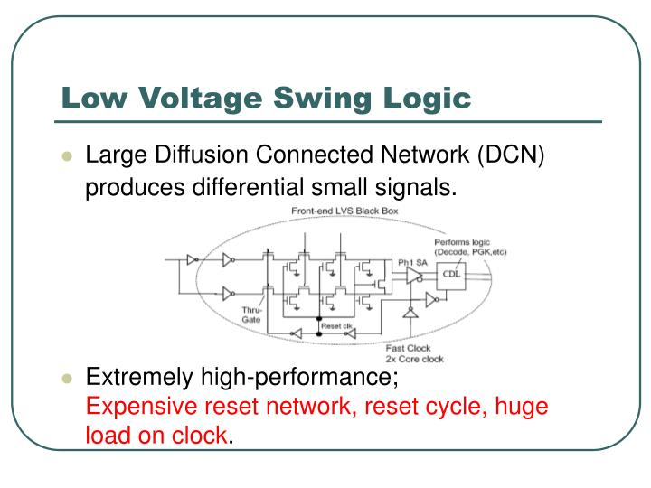 low voltage swing logic n.