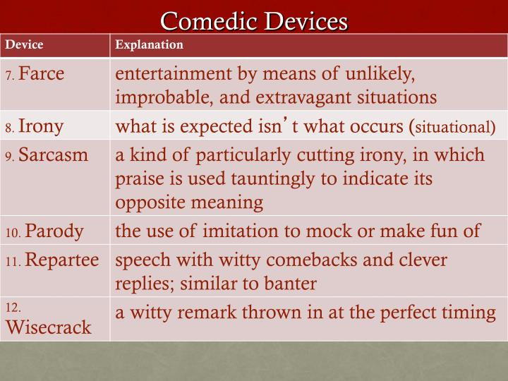 comedic devices