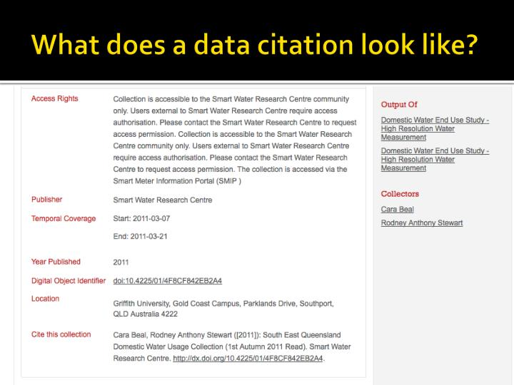 What does a data citation look like?
