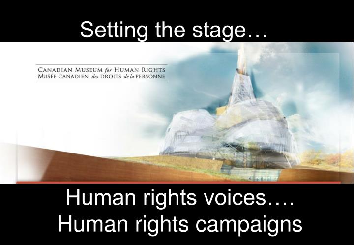 human rights voices human rights campaigns n.