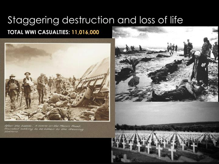 Staggering destruction and loss of life
