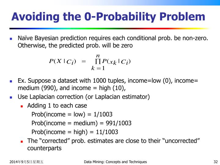 Avoiding the 0-Probability Problem