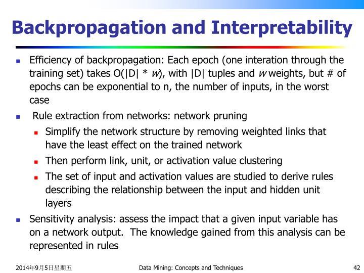 Backpropagation and Interpretability