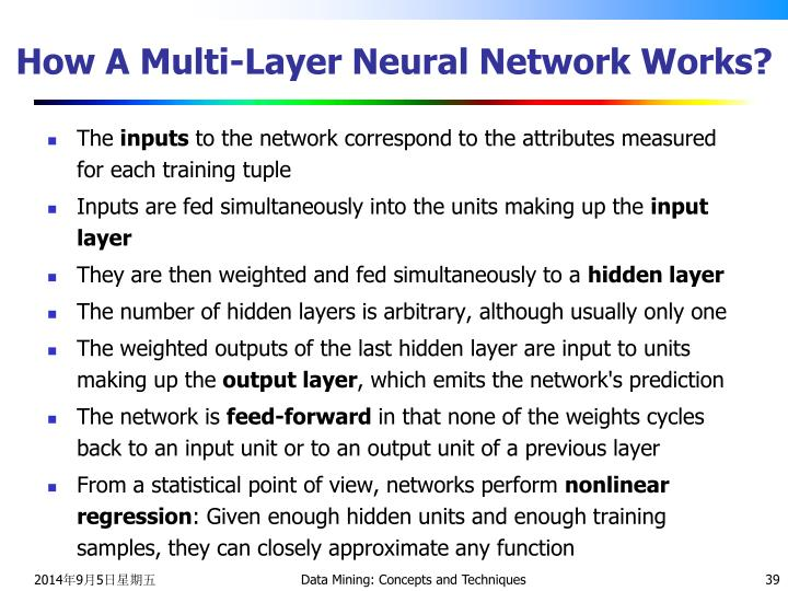 How A Multi-Layer Neural Network Works?