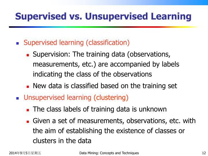 Supervised vs. Unsupervised Learning