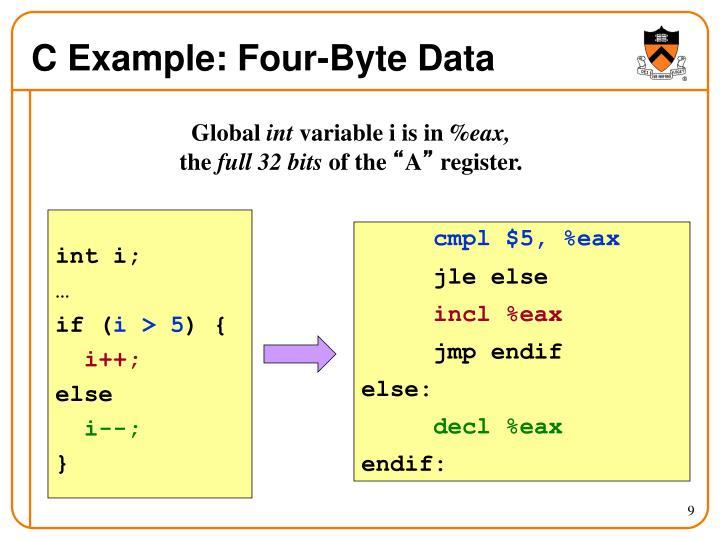 C Example: Four-Byte Data