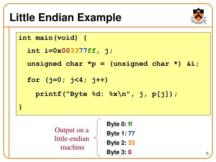 Little Endian Example