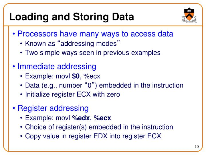 Loading and Storing Data