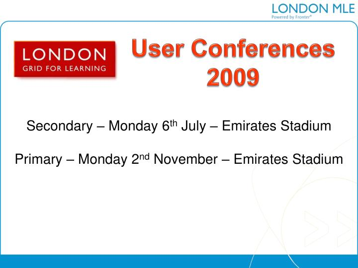 User Conferences